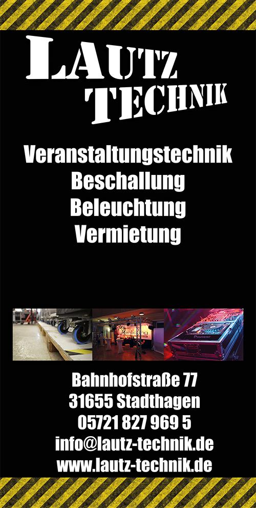 Lautz Technik Banner Hochkant